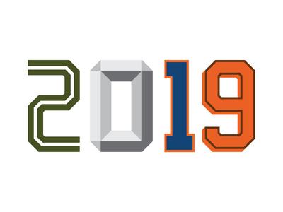 2019 2019 numerals number type design typeface type