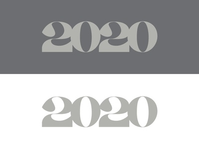 2020 numerals 2020 numbers typography