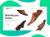 Website for Customised Shoes 01