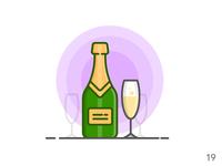 Champagne (illustration series 19)