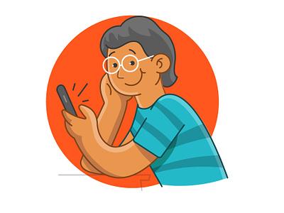 Illustration doodle webillustration website banner design app outline illustration vector illustrator