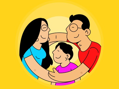 Family Coaster Design illustrator family stickermule lineart ui illustration illustration design creative coaster design coaster