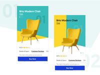 Furniture App - Product Page Concept chair visual design ui design branding ux bangalore furniture design furniture app