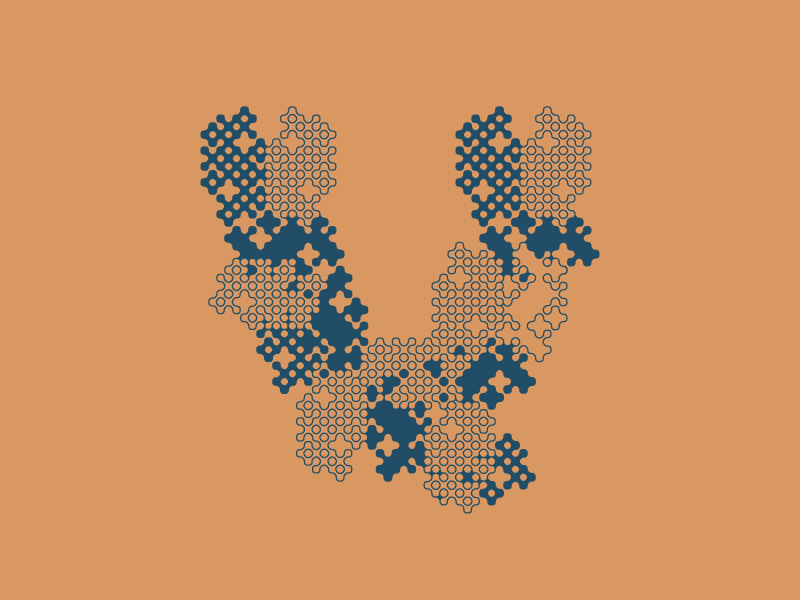 Typehue Week 22: V(eil) box clever brown blue v type typehue bxclvr veil