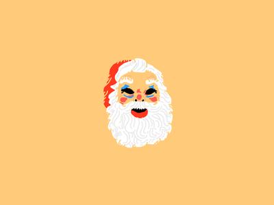 Saint Nick Mask drawing illustration face holiday saint nicholas christmas santa mask