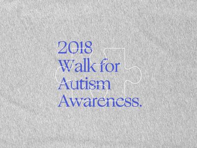 Autism Awareness fundraiser awareness blue type lockup typography shirt autism