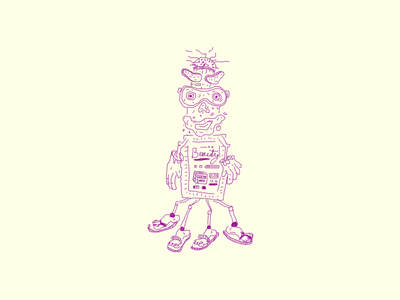 The Beautifier-5000 things sandals gloves mask face mask beauty character illustration drawing march of robots robot