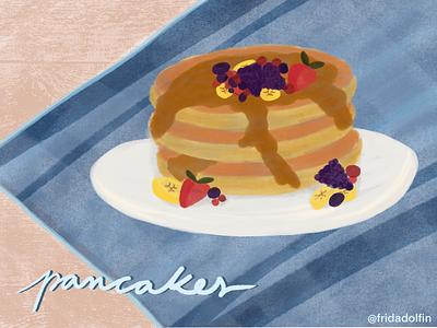 My favourite breakfast 🥞 breakfast pancakes fridadolfin catalunya spain barcelona studio illustration graphicdesigner graphicdesign business enterpreneur apple ipadprocreate ipad ipadpro drawing design lettering procreate