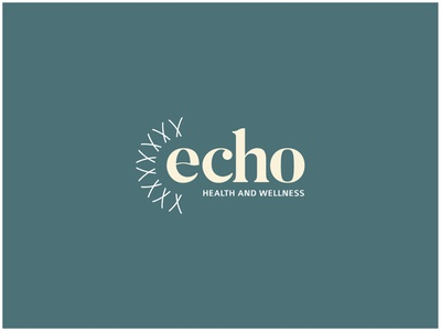 ECHO Health and Wellness vector typography logo design branding