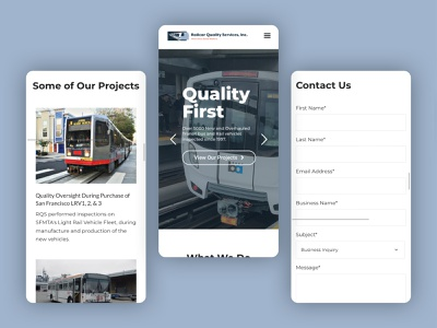 Railcar Quality Services Website ux ui web design mobile website web
