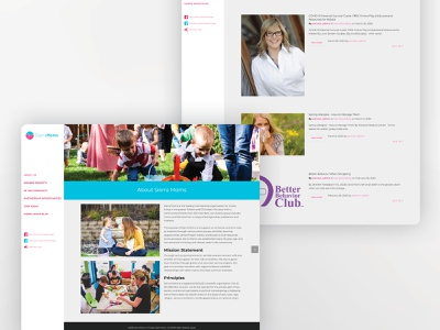 Sierra Moms Website ui ux web design website web