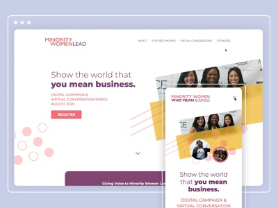 Minority Women Lead Website modern animation interactive ux ui website development website design and development web development website design web dev website web design
