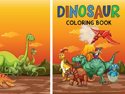 BOOK COVER bookcover dinosaur illustration vector logo motion graphics 3d animation ui branding business brand cover graphic design design