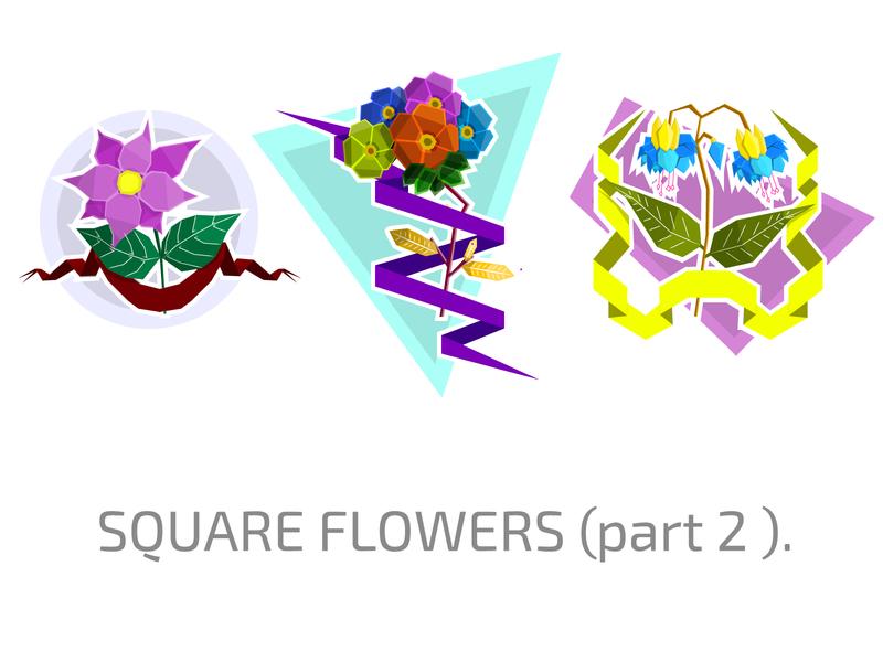 Square flowers icon floral flower set set flowers flower branding logo design illustration vector