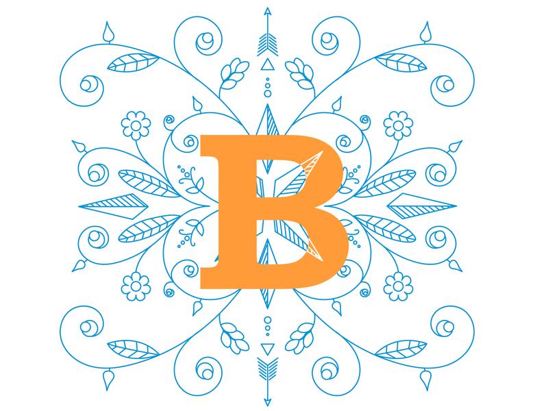 letter  b design illustration vector