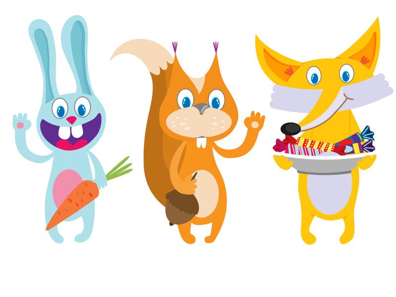 Baby animals cartoon illustration animals baby design illustration vector