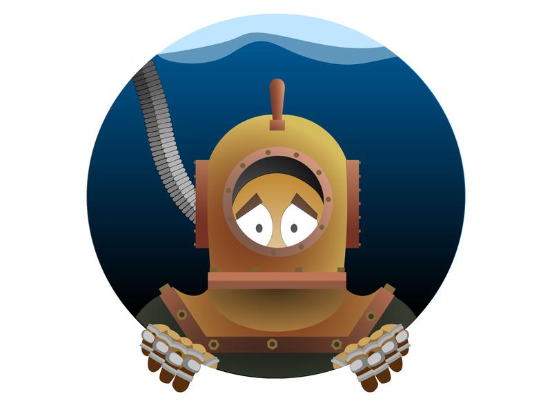 Scuba diver scuba diver design illustration vector