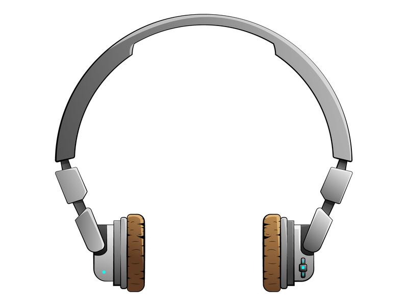 Wireless headphones wireless headphone icon illustration vector