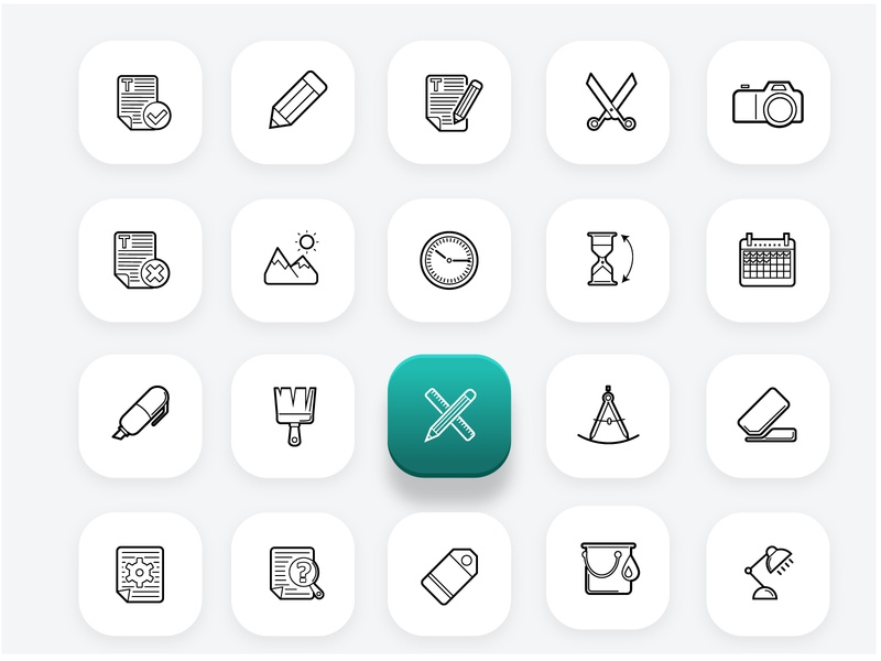 Office icons set (part 1) office icons icon ui illustration vector