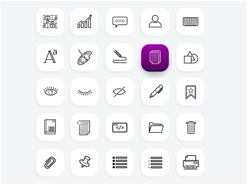 Office icons set (part 2) icon design office icons icon set ux ui icon illustration vector