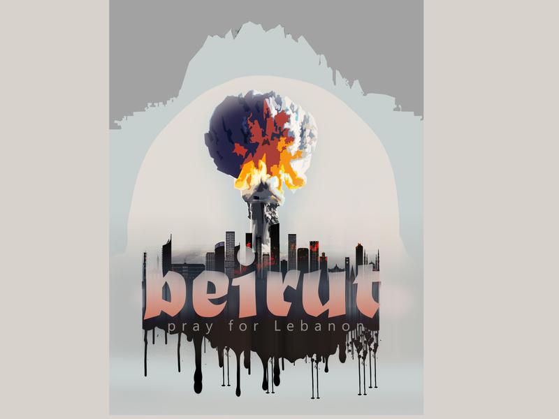Pray for Lebanon pray for beirut pray for lebanon pray for illustration design beirut 2020 trend 2020 explosion lebanon