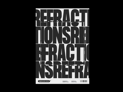 Refractions poster design poster art posters kinetic typography kinetic minimal c4d42 cinema4d graphicdesign typography brutalism
