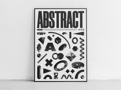 ABSTRACT abstract brutalism poster design poster a day poster art poster illustration cinema4d graphicdesign