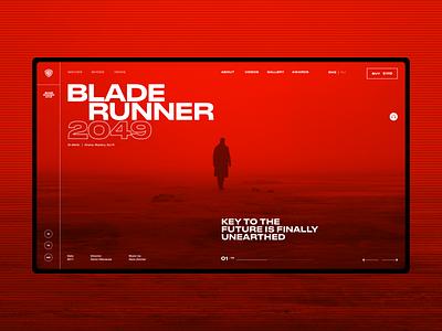 Blade Runner 2049 Movie Page movie web webpage typography ui ux concept desktop minimal webdesign
