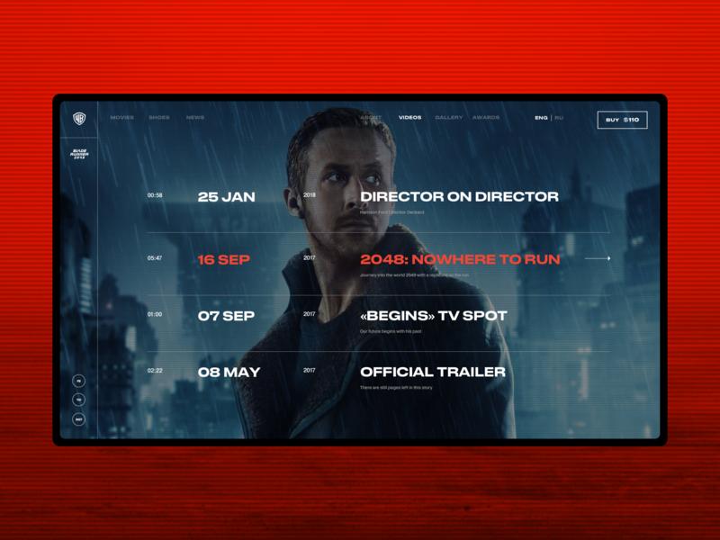Blade Runner 2049 concept desktop minimal movie typography ui ux web webdesign webpage