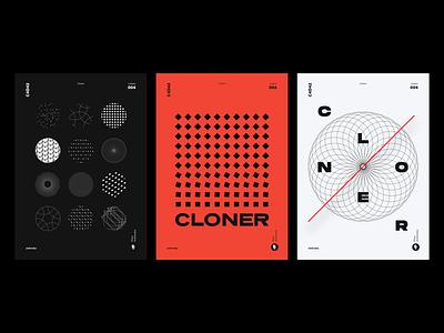 PosterSeries Cloner type poster design cinema4d posters cloner graphicdesign poster art poster c4d42 minimal typography