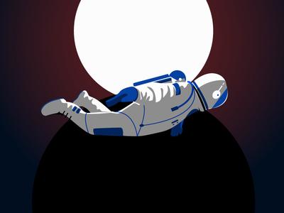 Space Oddity II black gradient spaceflight cosmos spacesuit nasa astronaut cosmonaut space light sun moon