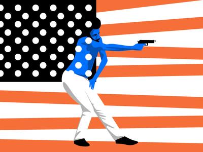 This is America! Childish Gambino critics revolt gun culture gun politics illustrator editorial illustration weapons hiro mura this is america donald glover