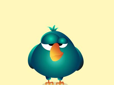 Funny bird web animation illustrator vector illustration