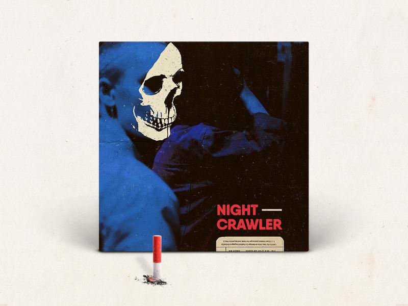 Night Crawler cigarette skull coverart travisscott