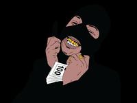Mask on black full