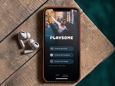 Playsome music app app typography ux branding ui design
