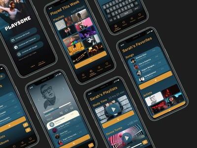 Playsome ux ui typography music app design branding app