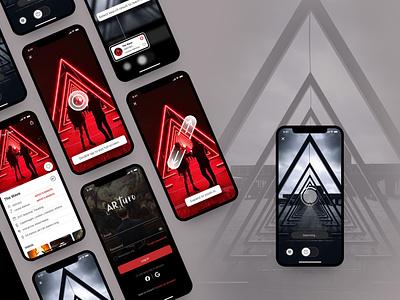 AR Art Scanning App, Arturo ar art app ar ar app art app ux ui design branding app