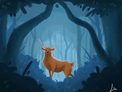 Deer monster characterdesign magic night deer draw artwork character design art artist illustration
