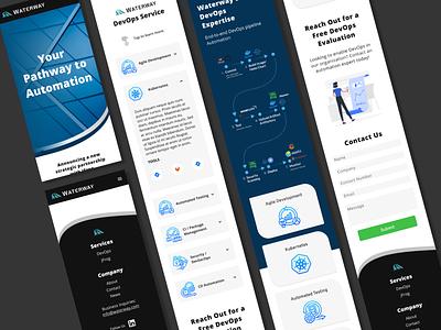 Waterway DevOps Mobile Website Design ui enterprise software devops web design website uiux ui design