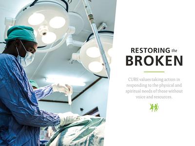 Core Values Poster Concept broken heal surgery doctor hospital tisa frutiger cure values core