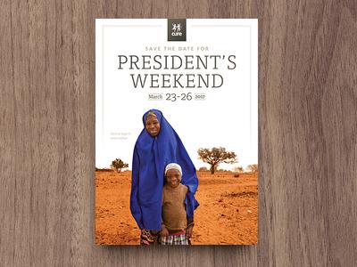 Save The Date - Final invite save the date blue desert orange photography frutiger tisa print