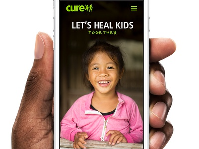 cure.org redesign concept frutiger cure