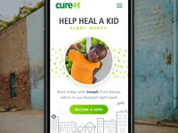 cure.org Redesign Concept - 2