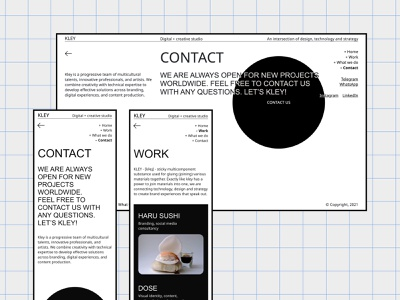 KLEY design agency agency business minimal website ux ui design webdesign web ui design