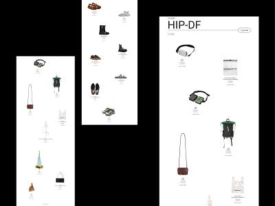 Hip da Fashion minimal shopping store cloth branding ux ui design webdesign web ui design