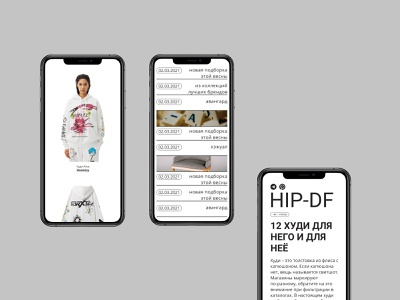 Hip da Fashion mobile ui design webdesign web ui design