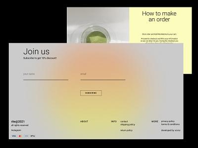 RITE matcha tea shop (TILDA + SHOPIFY) tilda online shop shopify green matcha tea ui ux design webdesign web ui design