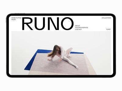 RUNO e-commerce shop clean brutal minimal branding ux ui design webdesign web ui design