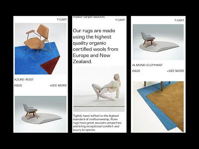 RUNO interior shop e-commerce furniture clean tilda minimal branding ux ui design webdesign web ui design